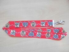 Handmade Yorkshire Terrier Dog Lanyard Whistle Walking Training Yorkie Puppy Red