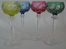 VINTAGE 4 SHERRY GLASSES CRYSTAL VAL ST LAMBERT BERNCASTEL four colors