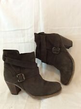 Vera Gomma Brown Ankle Leather Boots Size 39