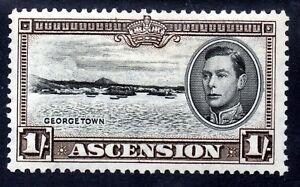 ASCENSION King George VI 1938 1 Shilling Black & Sepia SG 44 MLH