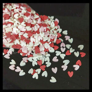 1000pcs 5mm Polymer Hot Clay Sprinkles Colorful Heart for DIY Crafts Tiny Cute