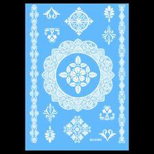 White Henna Lace Mandala  Temporary Tattoo Wedding Tattoo Flora Flower Sticker
