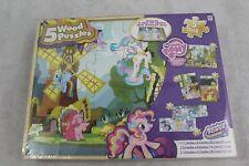 My Little Pony 5 Wood Jigsaw Puzzle Set & Storage Tray By Cardinal