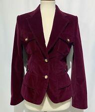 Womens Dolce & Gabana Blazer Jacket Corduroy Wine Color Size 42 Lined Made Italy