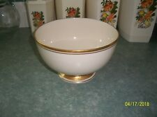 "Lehox (24 Karet Gold Trim) Bowl 7"" wide"