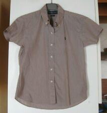 Ralph Lauren - superbe chemisette - 100% coton- beige rosé- M