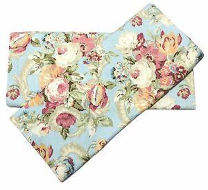 2 Waverly Spring Bling Vapor Back Tab Top Curtain Panels Pair 52 x 84  Floral