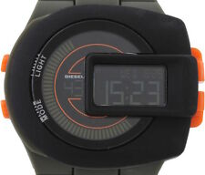 Mens Diesel DZ7299 Viewfinder Digital Watch With Green Olive Silicone Strap