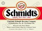 Schmidt's Beer NEW Metal Sign: Christian Schmidt Brewing - Philadelphia