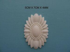 Decorative applique oval centre resin furniture moulding onlay NR32
