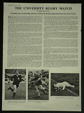 Oxford v Cambridge University Rugby Match Mike Gibson 1963 1 Page Photo Article