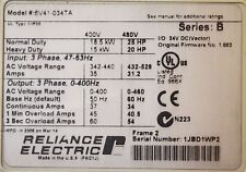 RELIANCE ELECTRIC GV6000  6V41-034TA  25 HP 480 VAC VERSION 1.003 Tested Good
