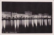 CROATIA - Spalato/Split - Obala u noci - Foto Cartolina 1936