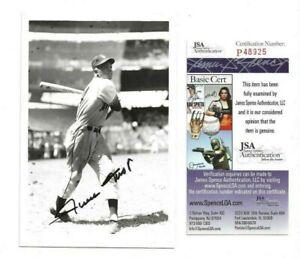 Willie Mays Autographed 4x6 B&W Brace Photo JSA COA New York Giants Baseball
