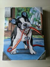 "Marmont Hill 15"" x 20""  canvas painting Boston terrier beautiful stunning art"