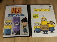 Minions (DVD, 2015) Despicable Me 2 /3 Mini-Movie Collection (2) movies