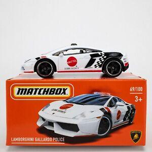 2021 Matchbox Power Grabs #69 Lamborghini Gallardo Police WHITE / MATTEL / MIB