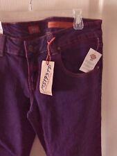 Dickies Girl Premium Denim Low Rise 5 Pocket Skinny Jean - Purple Size 15 NWT