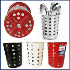 EVOKK Deluxe Cutlery Holder Stand 13cm Conical Jar Pot Utensil Stainless Steel