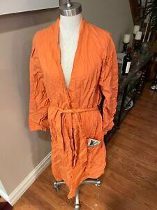 mens sz lg/xl robe in pumpkin orange poplin cotton by Ralph Lauren. NEW!