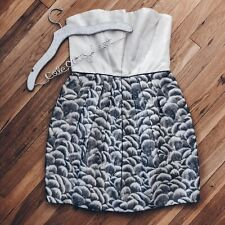 Stella McCartney Mini Dress Silk Strapless 44 Medium Sheath
