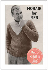 1950's Man's Mohair Sweater Knitting Pattern - Copy