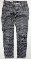 AG ADRIANO GOLDSCHMIED Gray White Polka Dot Stevie Corduroys Pants Size 27R USA