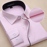 New Men's Luxury Shirt Formal Casual Business Slim Stylish Dress Shirts ATT6301