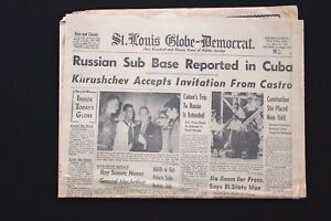 "May 25-26 1963 St. Louis Globe ""Russian Base In Cuba"""
