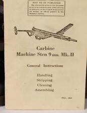 WW2 Machine Gun Manual~Sten MkII 9mm~Original reprint_WWII British Booklet