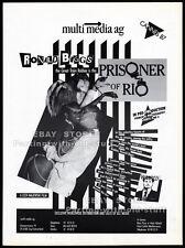 PRISONER OF RIO__Original 1987 Trade print AD promo__RONALD BIGGS_STEVEN BERKOFF