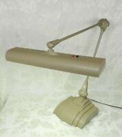 Vintage Flexo Art Deco Drafting Desk Lamp Floating Art Specialty Co Tan Heavy