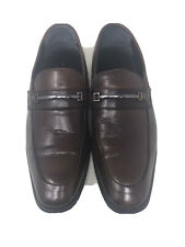 Alfani 360 Flex Men's Elegant Cedric Brown Leather Dress Shoes Slip On Size 10M