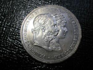1879 AUSTRIA 2 GULDEN WEDDING ANNIVERSARY SILVER COIN