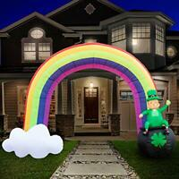 8ft Inflatable St. Patrick's Day Rainbow Pot of Gold - St Patty's Rainbow