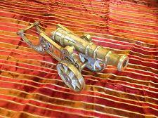 Antique Brass Cannon.