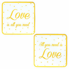 All You Need Is Love Coaster Set of 2 Engagement and Wedding Gifts LP42558