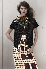 NWT Marni x H&M Black Polka Dot Short Sleeve Jacquard Jacket