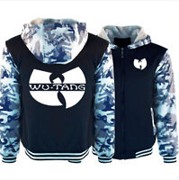 Men's Wu-Tang Clan Hoodie Thicken Fleece Coat Winter Jacket Warm Zip Sweatshirt