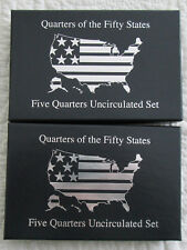 Pair 2000P & 2002P State Quarter uncirculated sets - 10 coins in all