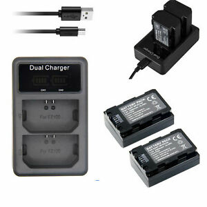 2x NP-FZ100 Liion Battery Rechargable +Dual USB Charger For Sony A9 A7RIII A7III