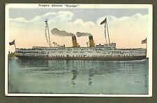 NIAGARA STEAMER CAYUGA EARLY STEAMSHIP VINTAGE POSTCARD