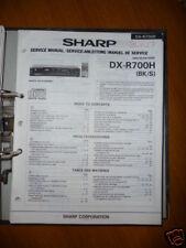 Manuel de service pour Sharp dx-r700h Lecteur CD, original