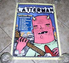 "Latterman ""European Tour"" Poster RVIVR Iron Chic Joyce Manor"