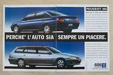 E569 - Advertising Pubblicità -1997- PEUGEOT 406 BERLINA E STATION WAGON