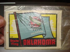 Vintage Souvenir TRAVEL STICKER DECAL OKLAHOMA STATE FLAG Baxter Lane #409