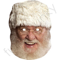 Santa Claus Father Christmas Celebrity Card Face Mask - All Masks Are Pre-Cut!