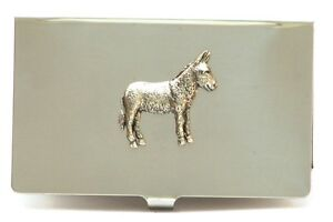 Donkey Foal Card Tin Wallet Mule Farming Gift 108