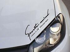 1 x VW R-line Sports Mind Sticker for Golf GTI Passat UP Volkswagen Emblem LogoB
