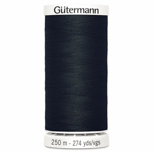 2 x Gutermann Sew-All Thread: 250m: BLACK (000) Bulk Buy